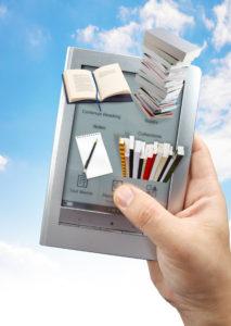 reading e-book with 3D e book reader